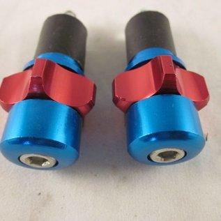 Sendai Stuurdoppen aluminium blauw/rood ster