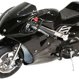 Sendai KXD Minibike 49cc geheel zwart