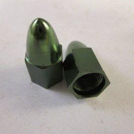 Sendai Kogel Ventieldop aluminium GROEN (2 stuks)