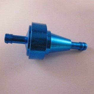 Sendai Universeel Aluminium brandstoffilter blauw