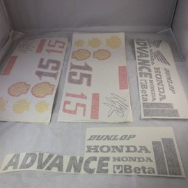 Sendai Stickerset Shell Honda