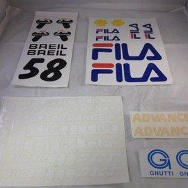 Sendai Stickerset Fila Ducati