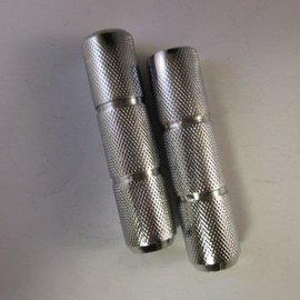 Sendai Ronde vol metalen chromen voetsteunen set (15L1)