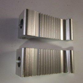 Sendai Voetsteunen massief aluminium zilver klein (16D3)