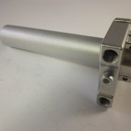 Sendai Gashandvat crosser aluminium zilver kleur