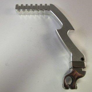 Sendai 4-takt Pitbike/Cross CNC kickstarter aluminium zilver