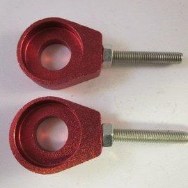 Sendai Kettingspanner aluminium rood voor crossers 2stuks