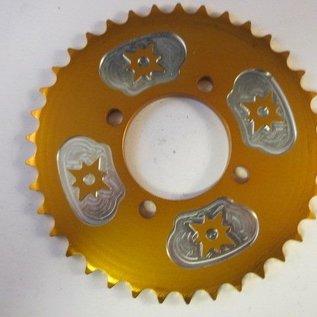 Sendai 37 tands achtertandwiel 54-70 (type 420) aluminium GOUD