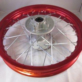 Sendai 12 inch achtervelg aluminium rood