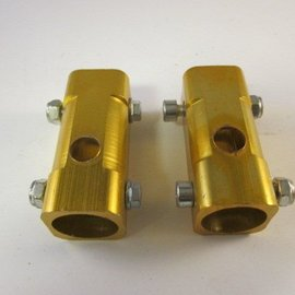 Sendai Mini-Racer Aluminium voorvork blokjes set goudkleurig (3C2)