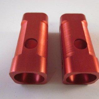 Sendai Mini-Racer Aluminium voorvork blokjes set rood (3C3)
