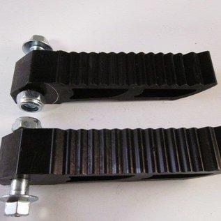 Sendai Aluminium voetsteunen zwart opklapbaar