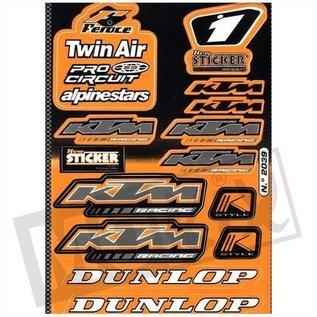 Sendai KTM Sponsor stickerset 35x25cm