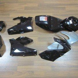 Sendai Kappenset mini-racer compleet 6 delig Kleur: glans zwart