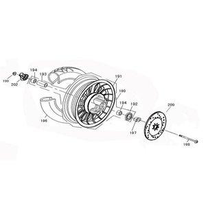 AGM VX50 Voorwiel lager per stuk 6300-RS 194