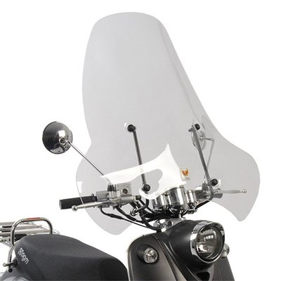 AGM New Flash Windscherm Isotta hoog model blanco New Flash/Pico/Santini