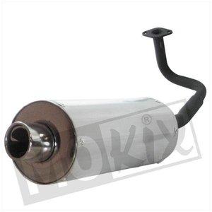 A-Merk Uitlaat Aluminium demper GY6 50A