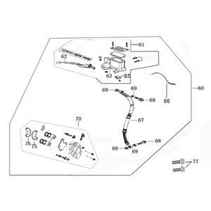 AGM VX125 Remlichtschakelaar rechts 66