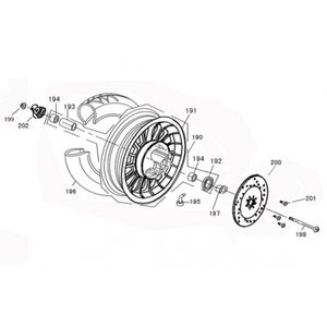 AGM VX125 Voorwiel lager per stuk 6300-RS 194