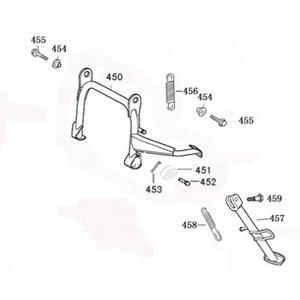 AGM VX125 Bout middenstandaard ophanging M10*25 455