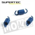Koppeling segment veertjes 3st blauw Race GY6 50cc