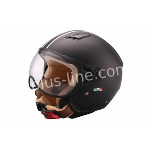A-Merk helm vito jet moda mat zwart