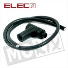 A-Merk Bougie dop + kabel zwart