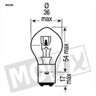 A-Merk Lampe Philips BA20D 12V 35 / 35W