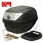 A-Merk KXM RR Topcase 28L schwarz / silber mit Schlitten