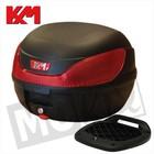 A-Merk Topkoffer KXM RR 32L zwart/rood met slede