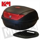 A-Merk Topkoffer KXM RR 51L zwart/rood met slede