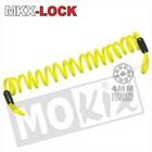 A-Merk MKX waarschuwingskoord schijfremslot geel 150cm