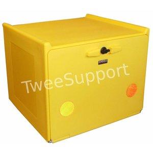 A-Merk Pizzakoffer geel dubbel geïsoleerd 90 liter