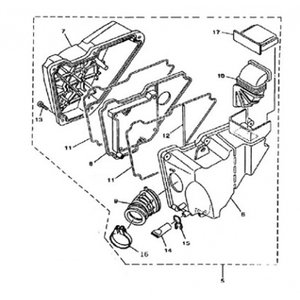 AGM Cafe Racer 2014 Luchtfilter compleet (1)