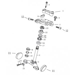 AGM Cafe Racer 2014 Head- steering stem (3)