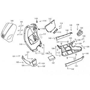 AGM VX50 S Rubber van helm haakje (116)