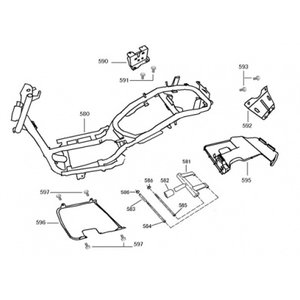 AGM VX50 S Swingarm motor ophanging rubber (582)