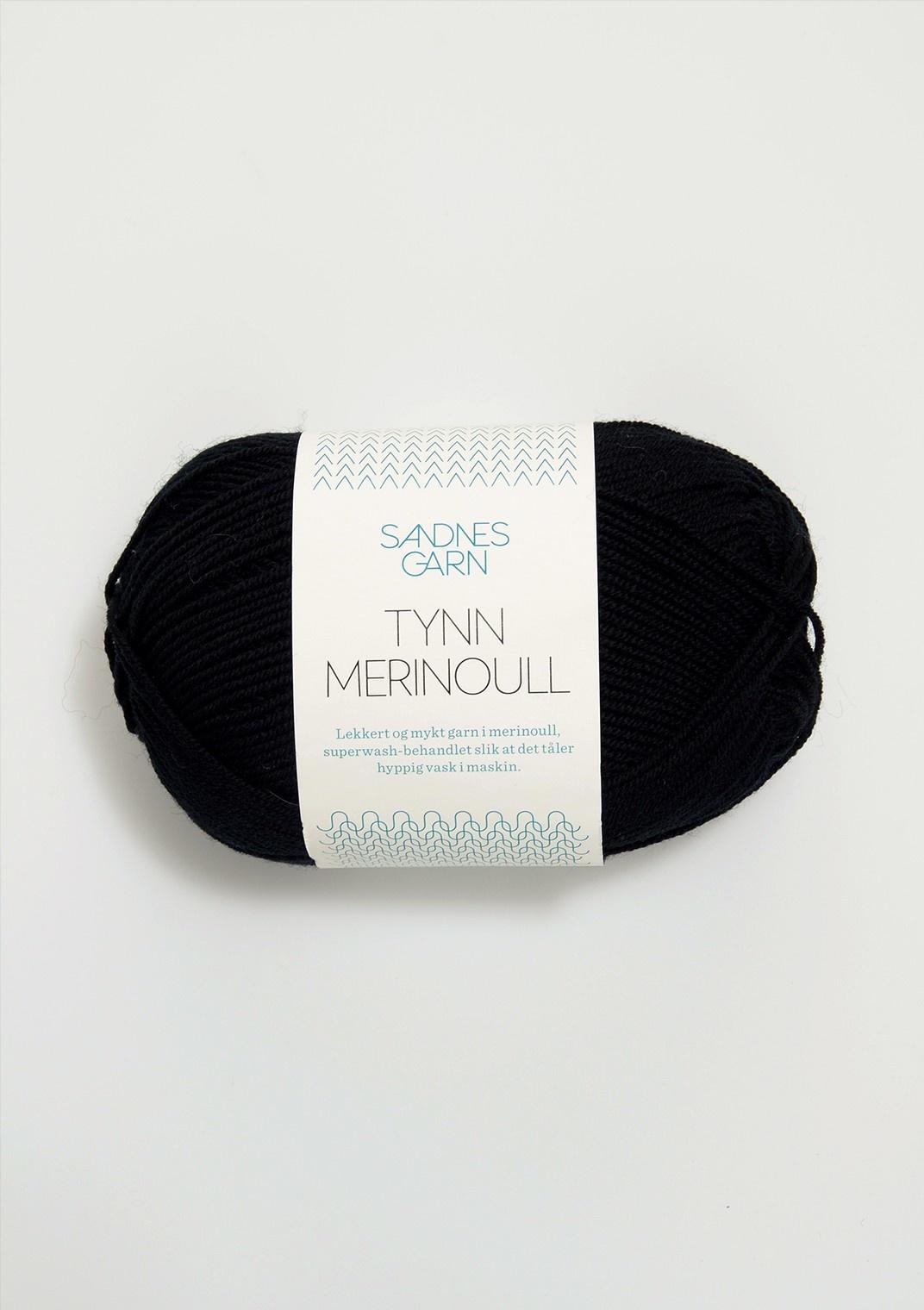 Sandnes Tynn Merino Ull - 1099 - Sort