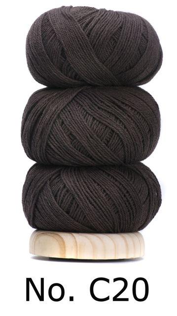 Geilsk Bomuld Og Uld - C20 - Dark Brown