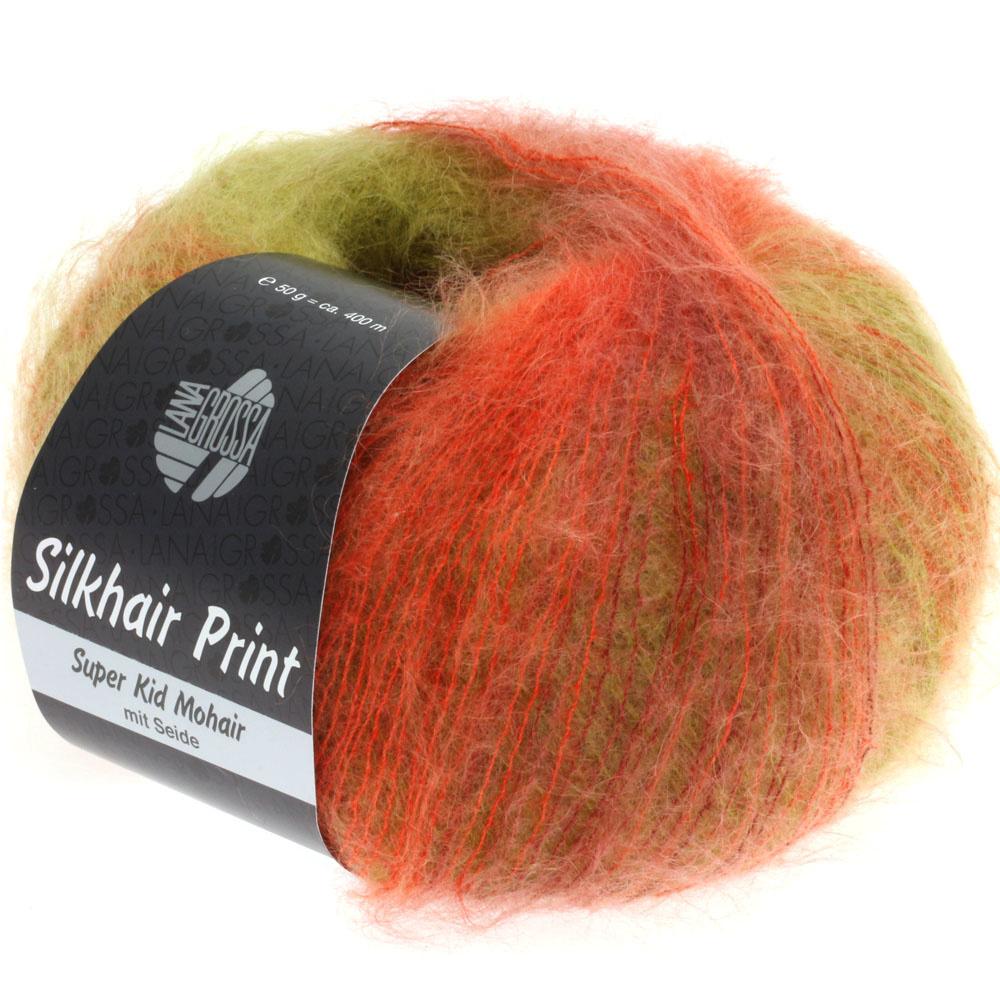 LanaGrossa Silkhair Print - 325 - Groen/Oranje