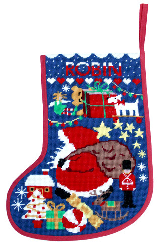 One off Needlework Starry Stocking MIdnight