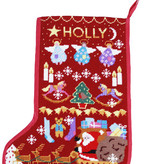 One off Needlework Red Santa Stocking