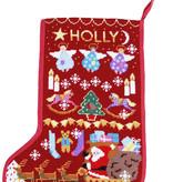 One off Needlework Red Santa Stocking