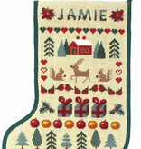 One off Needlework Sampler Stocking