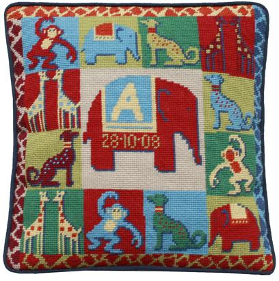 One off Needlework Zoo cushion
