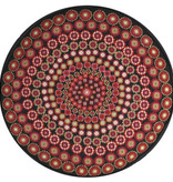 One off Needlework Black Millefiori cushion