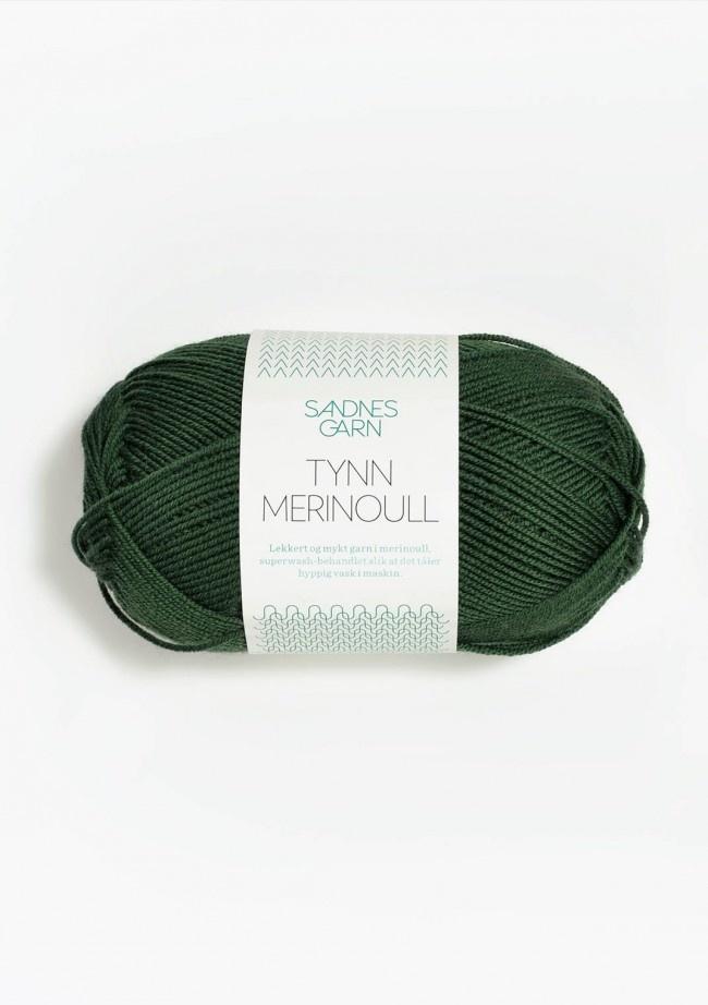 Sandnes Tynn Merino Ull - 8072 - skoggrønn