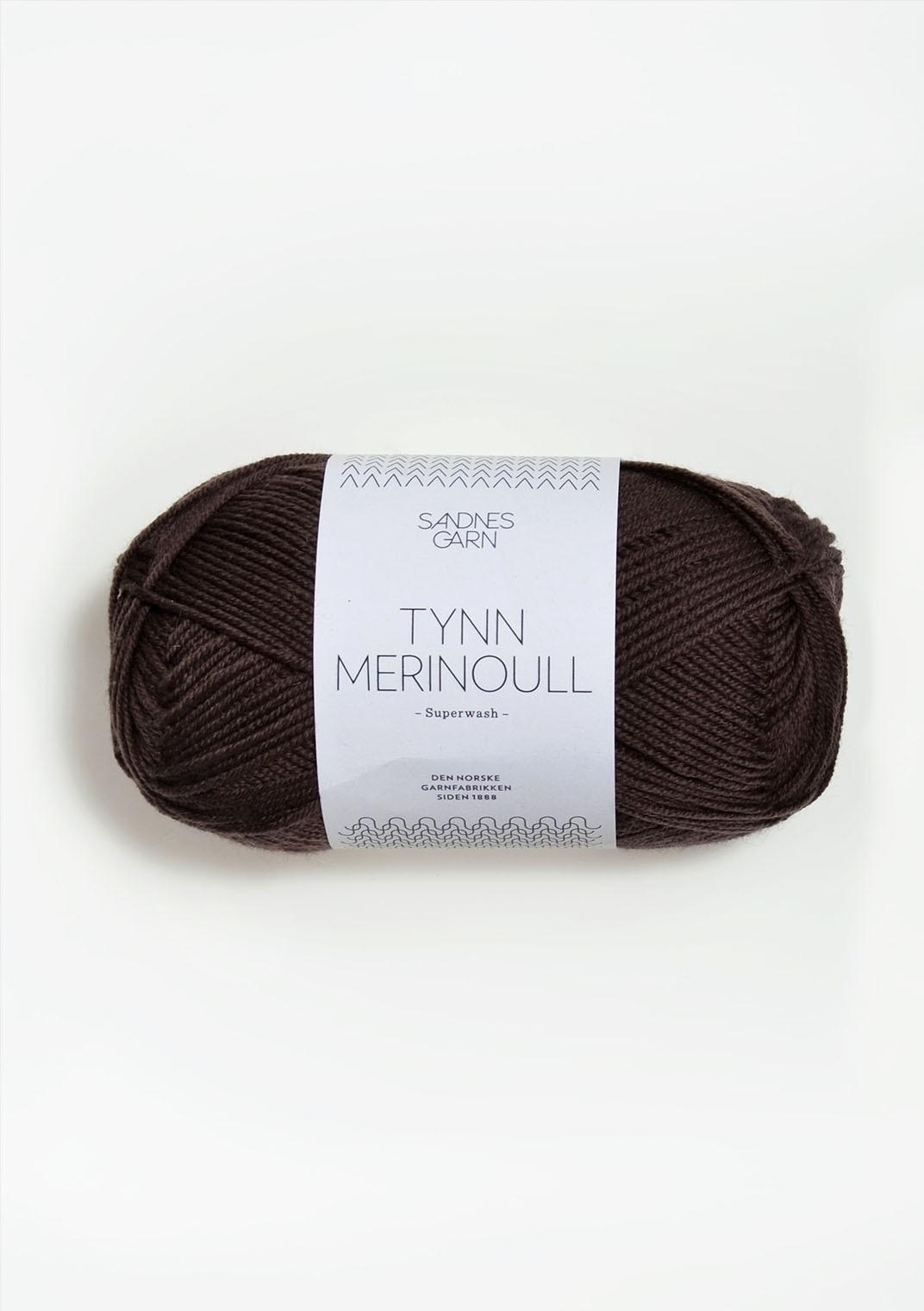 Sandnes Tynn Merino Ull -  2571 -  mørkbrun