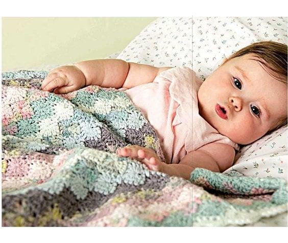 Rico design Babydeken in Harlekijnsteek