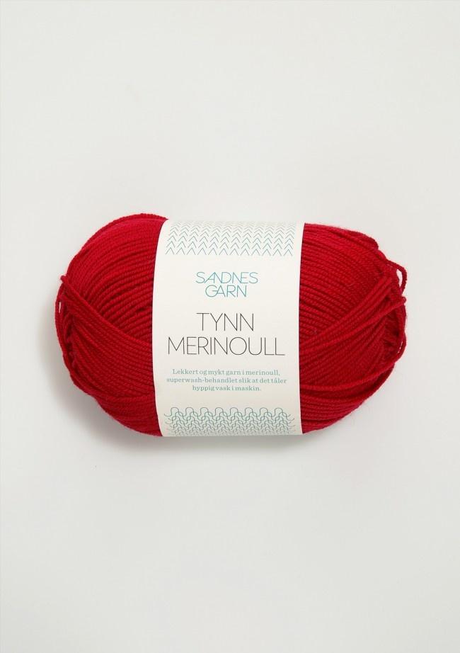 Sandnes Tynn Merino Ull -  4219 - Rød